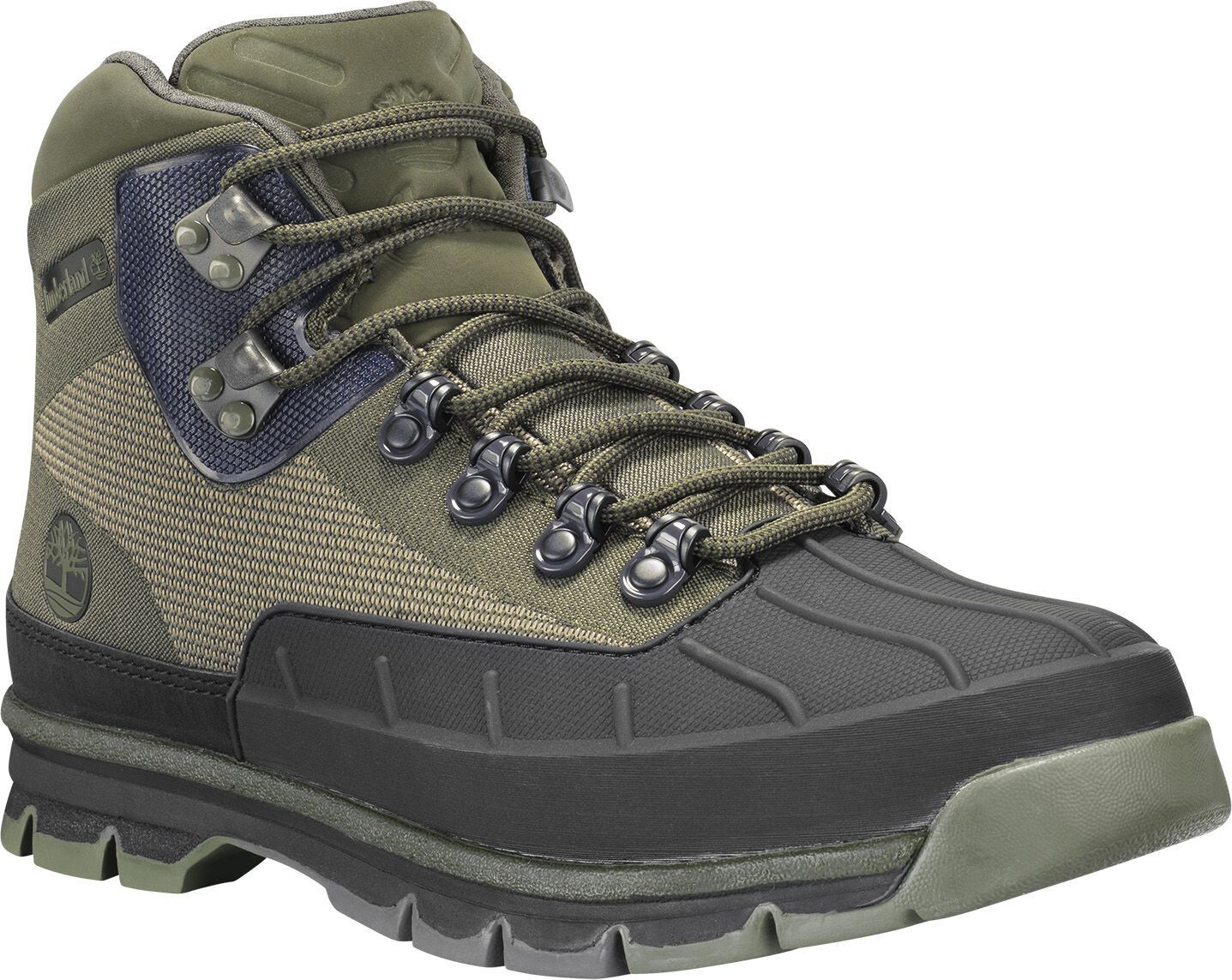 Timberland Euro Hiker Shell Toe Chaussures Jacquard Homme, dark green